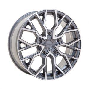 Velare VLR-T Platinum Grey Polished Face angle 1 alloy wheel