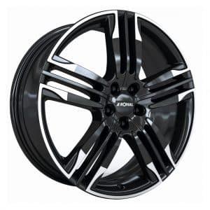 Ronal R58 Black White Rim angle 1024 alloy wheel