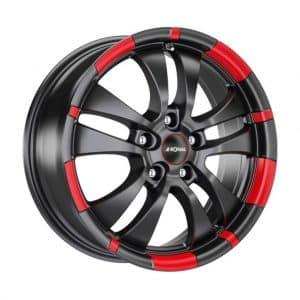 Ronal R59 Black Red Rim 10 spoke angle 1024 alloy wheel