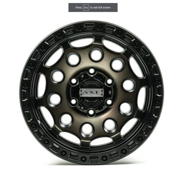 Axe AT4 Satin Black Bronze Centre flat alloy wheel