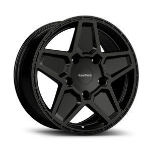 Supermetal Rocket Gloss Black angle alloy wheel