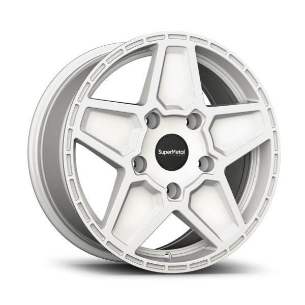 Supermetal Rocket Gloss White angle alloy wheel