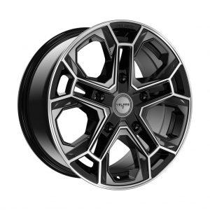Velare VLR-ST Diamond Black Polished angle 1 alloy wheel