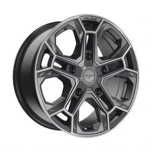 Velare VLR-ST Platinum Grey Polished angle 1 alloy wheel