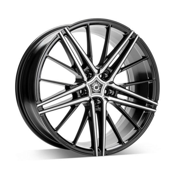 Wrath WF5 black polish 1 alloy wheel