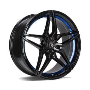Seventy9 SV-A Black Blue Barrel alloy wheel