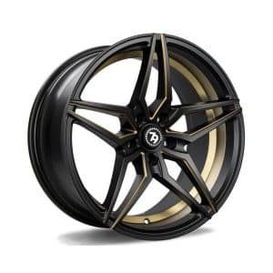 Seventy9 SV-A Matt Black Gold Mill alloy wheel