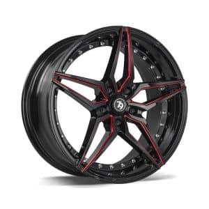 Seventy9 SV-AR Black Red Mill alloy wheel