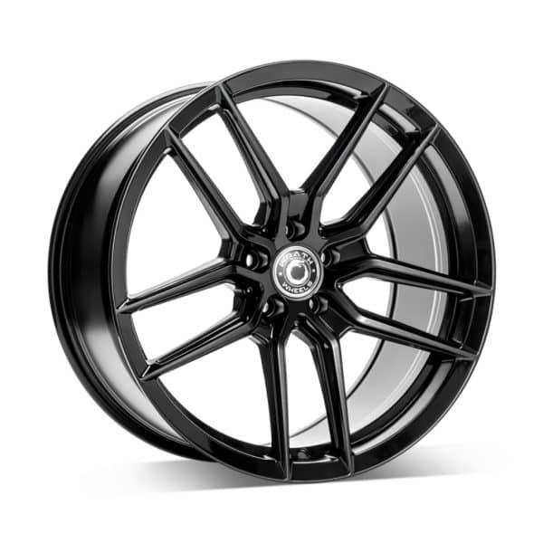 Wrath WF14 Gloss Black 1 alloy wheel